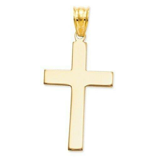 14kt. Gold Polished Cross Pendant (Medium)