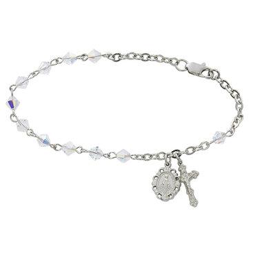 Adult Crystal Rosary Bracelet