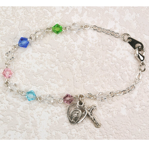 Youth Multi-Color Rosary Bracelet