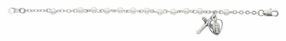 Youth Pearl Rosary Bracelet