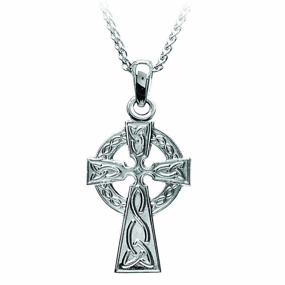 Sterling Silver Traditional Celtic Cross- Small & Chain