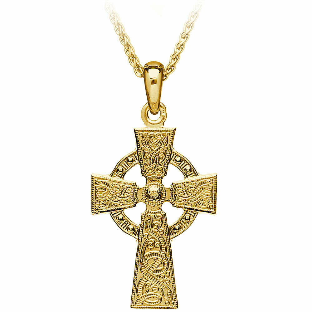 "10kt Yellow Gold Original Celtic Warrior® Cross, and 10kt 18"" Chain"