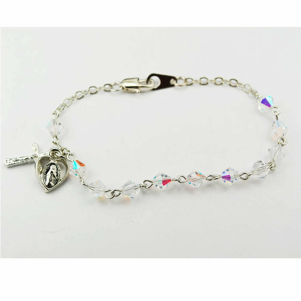 Youth Crystal Rosary Bracelet