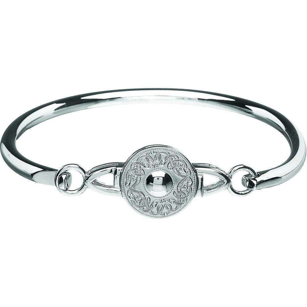 Sterling Silver Original Celtic Warrior® Wire Bangle- Small