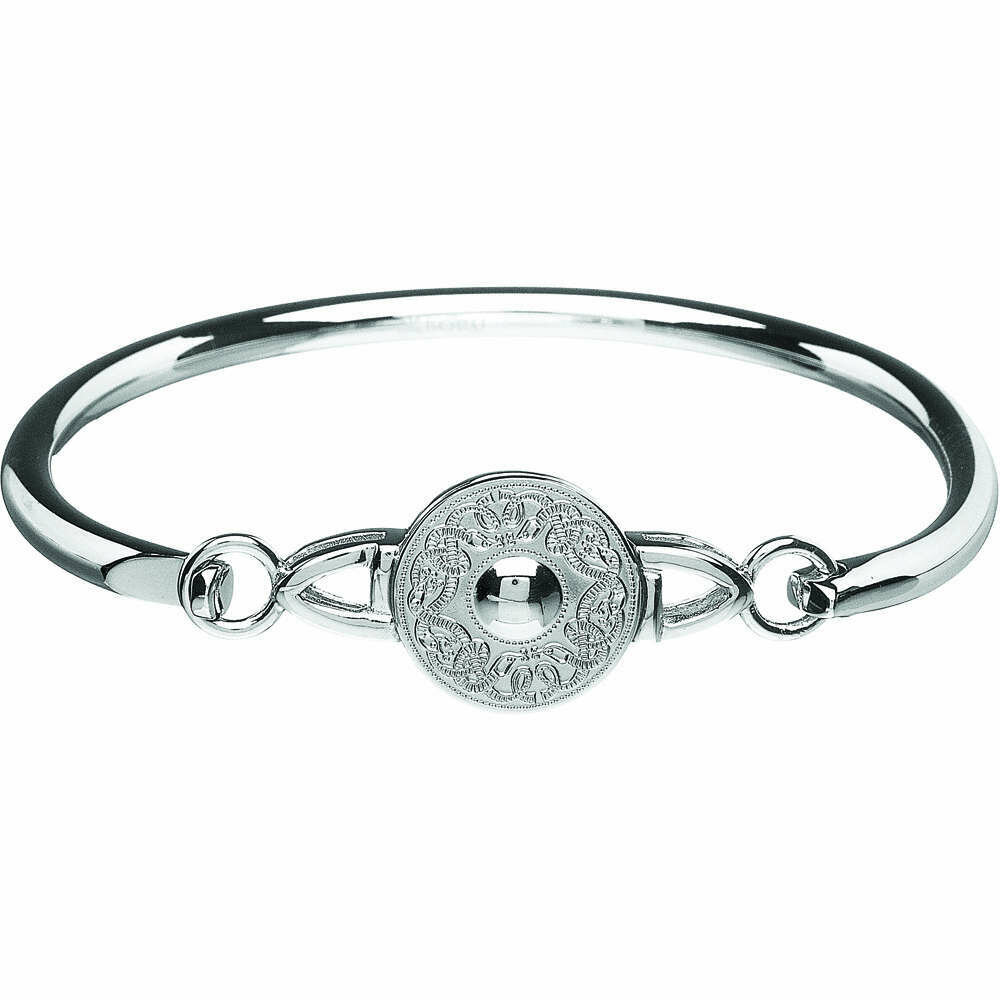 Sterling Silver Original Celtic Warrior® Wire Bangle- Medium