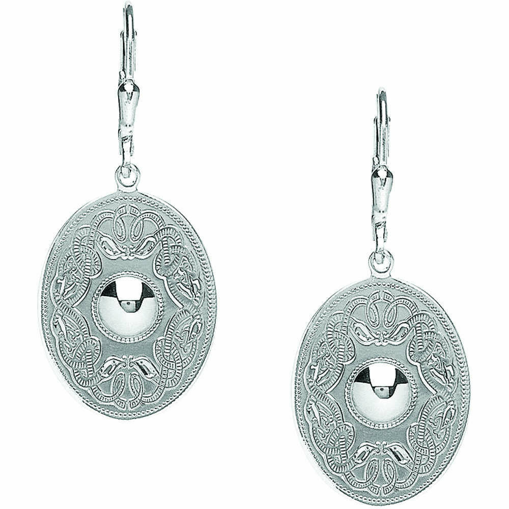 Sterling Silver Original Celtic Warrior® Earrings- Oval