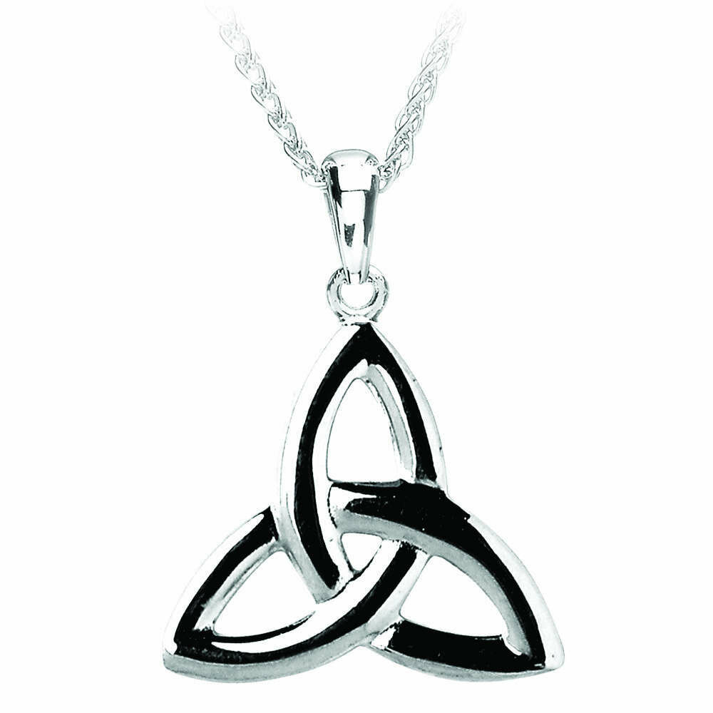 """Sterling Silver Trinity Knot Pendant & 18"""" Sterling Silver Chain"""