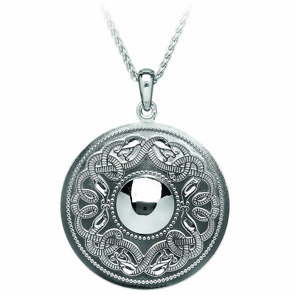 """Sterling Silver Original Celtic Warrior® Pendant- Extra Large & 22"""" Sterling Silver Chain"""