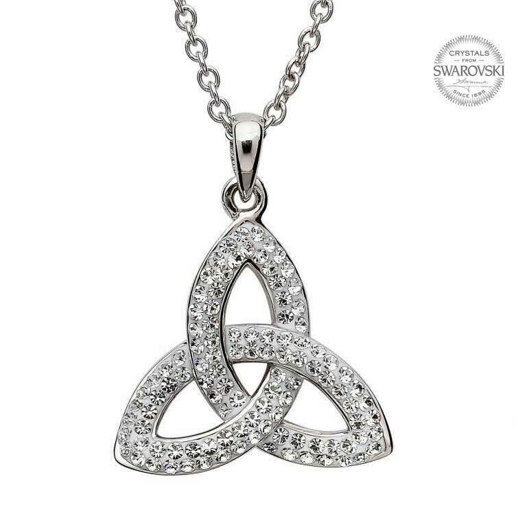 Trinity Knot Pendant Embellished with Swarovski® Crystals