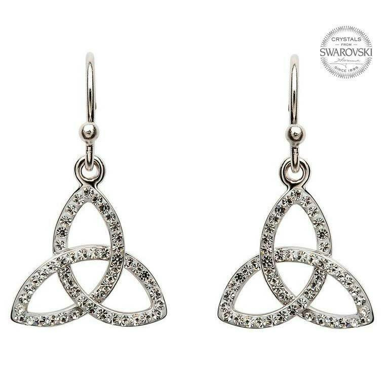 Trinity Knot Earrings Embellished with Swarovski® Crystals