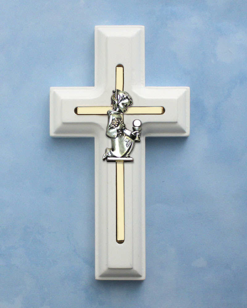 First Holy Communion White Cross- Girl