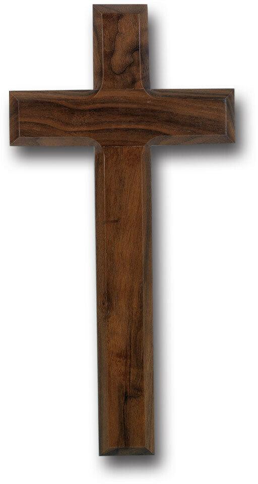 "10"" Genuine Walnut Cross with Beveled Edges"