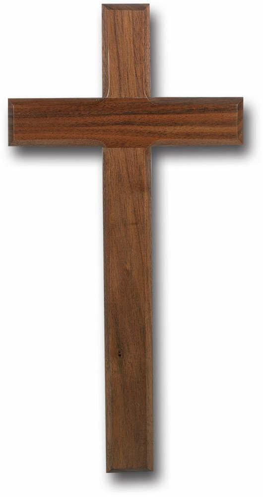 "12"" Genuine Walnut Cross with Beveled Edges"