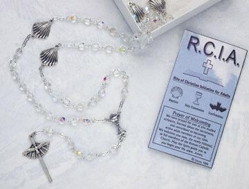 Commenmorative RCIA Crystal Rosary