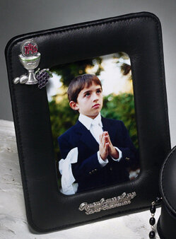 First Holy Communion Black Photo Frame