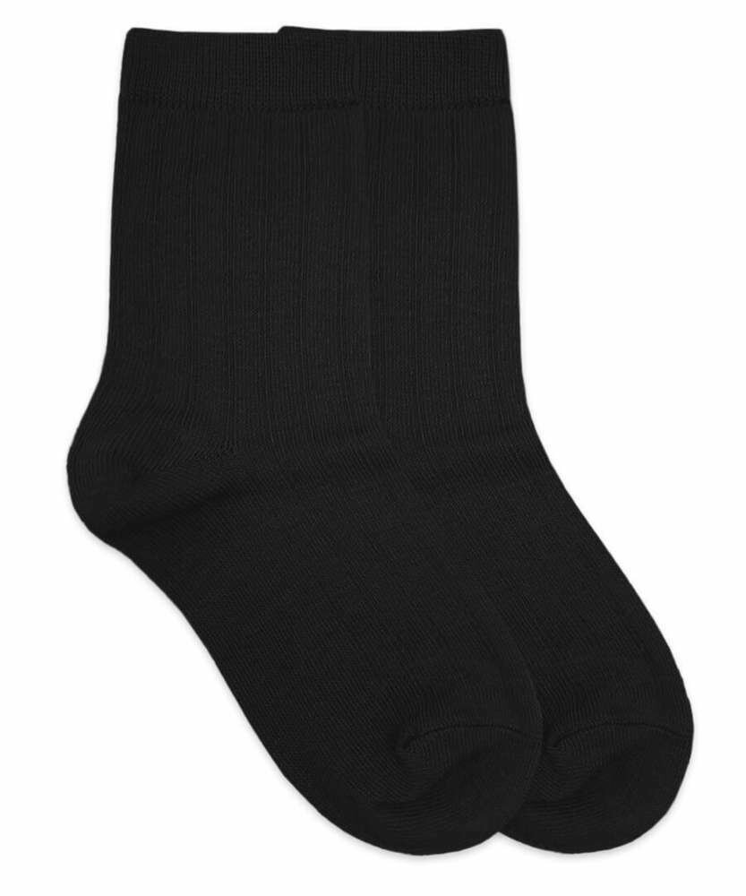 Boy Black Dress Socks, One Pair