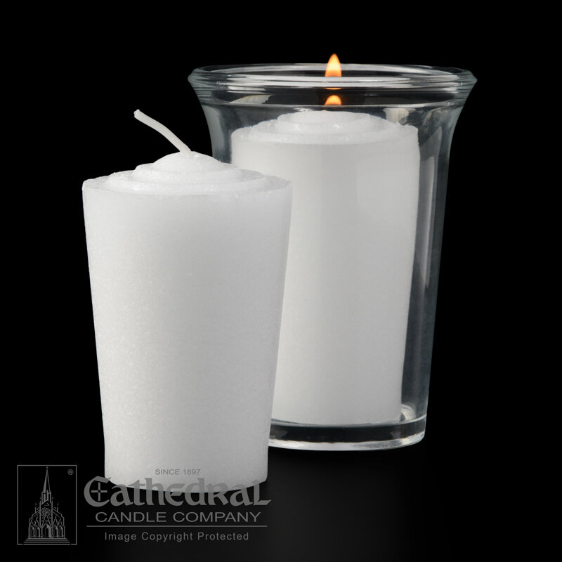 24-Hour Tapered Votives- Box of 36 Candles