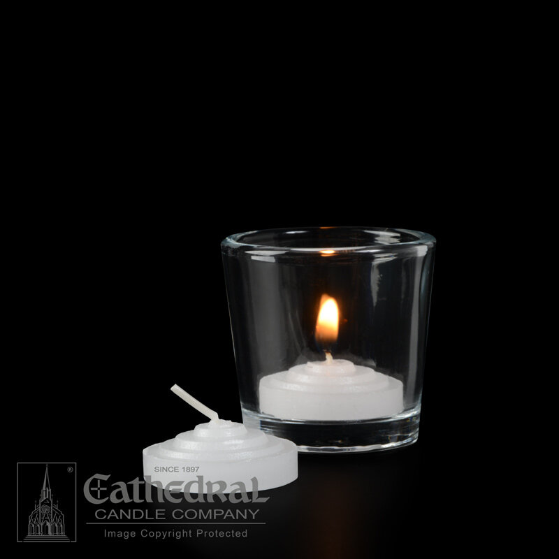 2-Hour Straight Side Votives- Box of 288 Candles