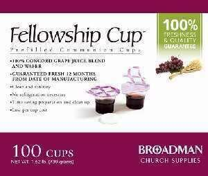 Communion- Fellowship Cup Prefilled Juice/Water (100ct)