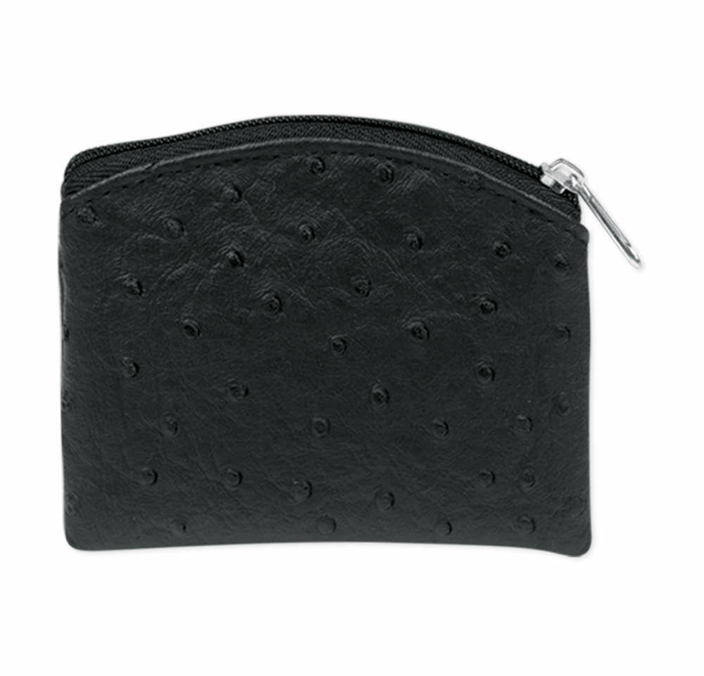Rosary Pouch- Black Soft Ostrich Skin Leatherette Pouch