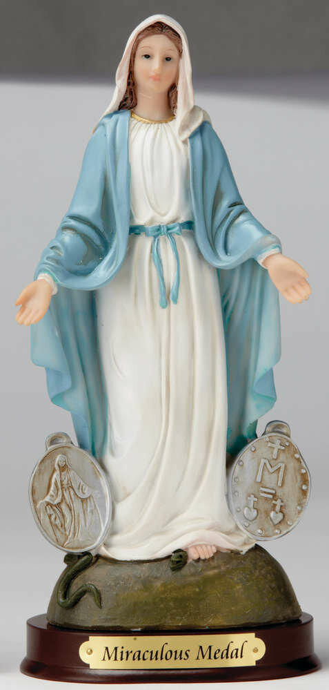 "12"" Our Lady of the Miraculous Medal Statue"