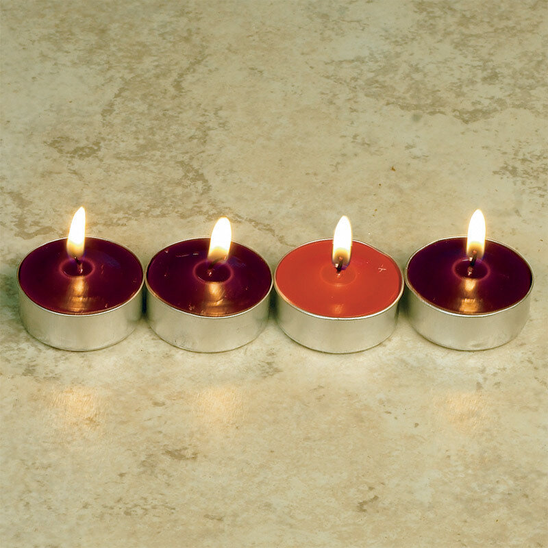 Advent Tealight Candles- Set of Four