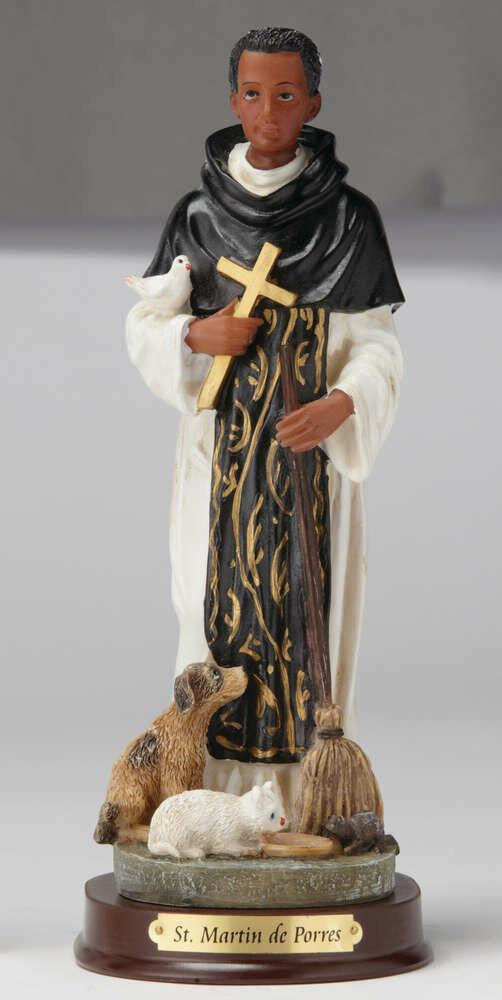 """8"""" St. Martin de Porres Statue"""