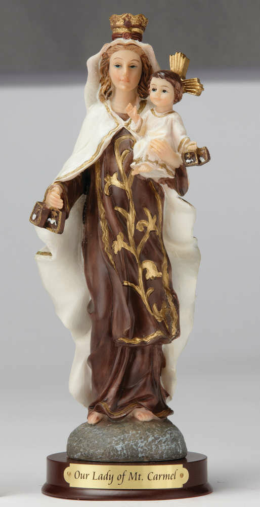 """8"""" Our Lady of Mount Carmel Statue"""