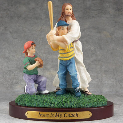 Jesus and Baseball Figurine