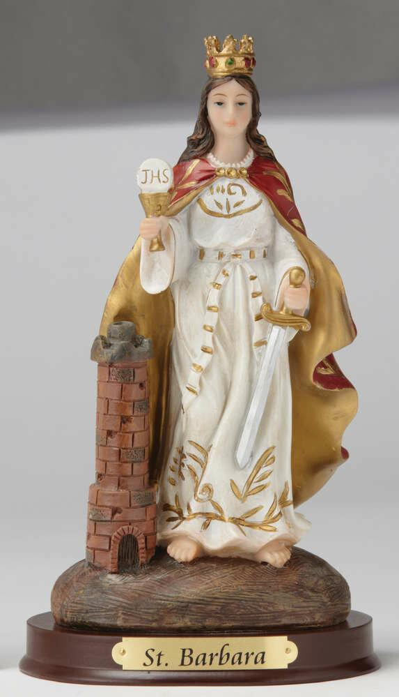 "8"" St. Barbara Statue"