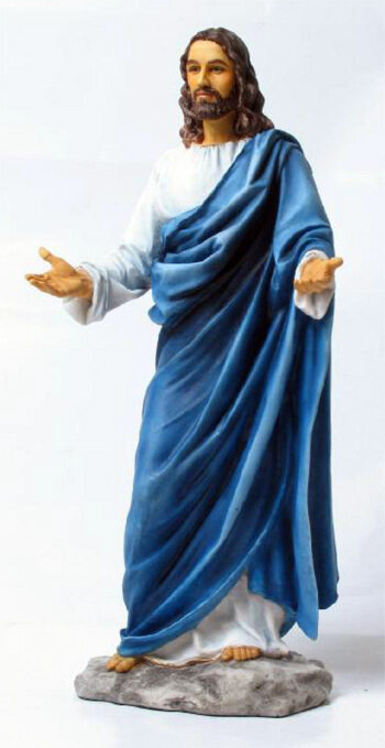 """12"""" Welcoming Christ, Hand-Painted Colors"""