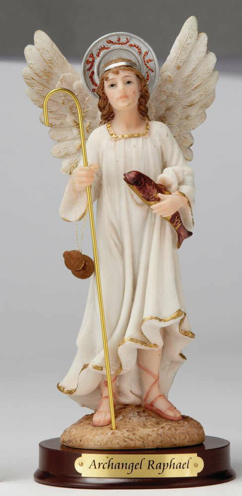 "8"" Archangel Raphael Statue"