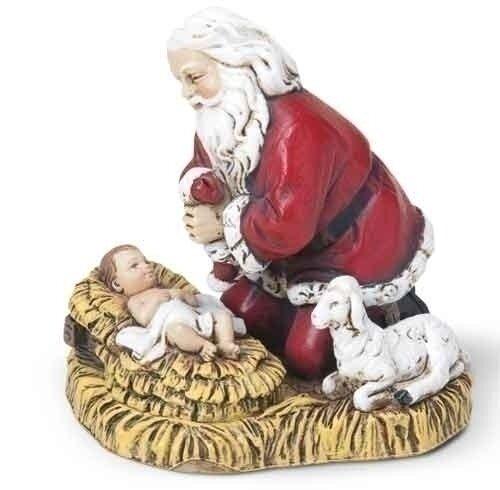 "2.75"" Kneeling Santa Ornament"