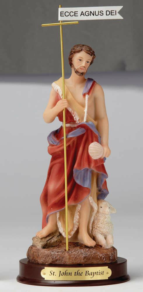 "8"" St. John the Baptist Statue"