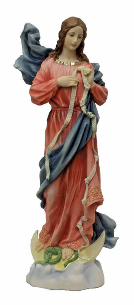 """8"""" Our Lady Undoer of Knots, hand-painted color, 8"""""""