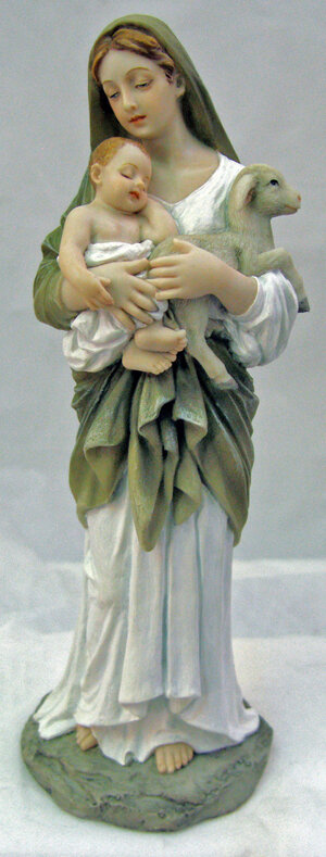 """8"""" L'Innocence, Veronese, hand-painted in full color"""