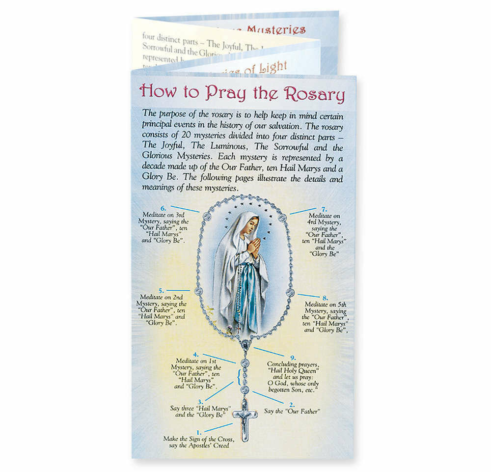 How to Say the Rosary Folding Pamphlet