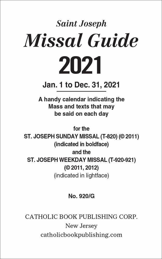 2021 Annual Missal Guide