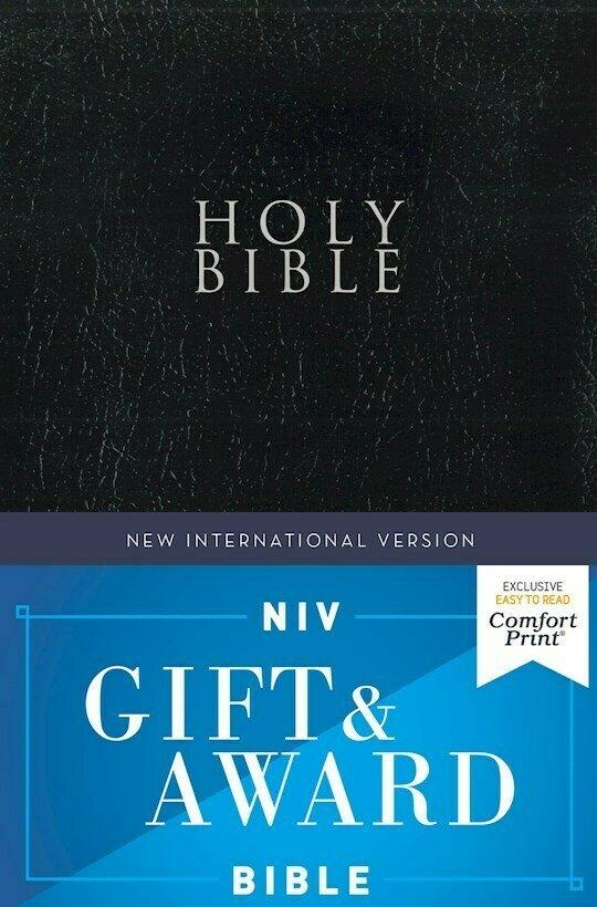 Black Gift & Award Bible- NIV