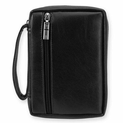 Bible Cover Leather-look, Black- Large