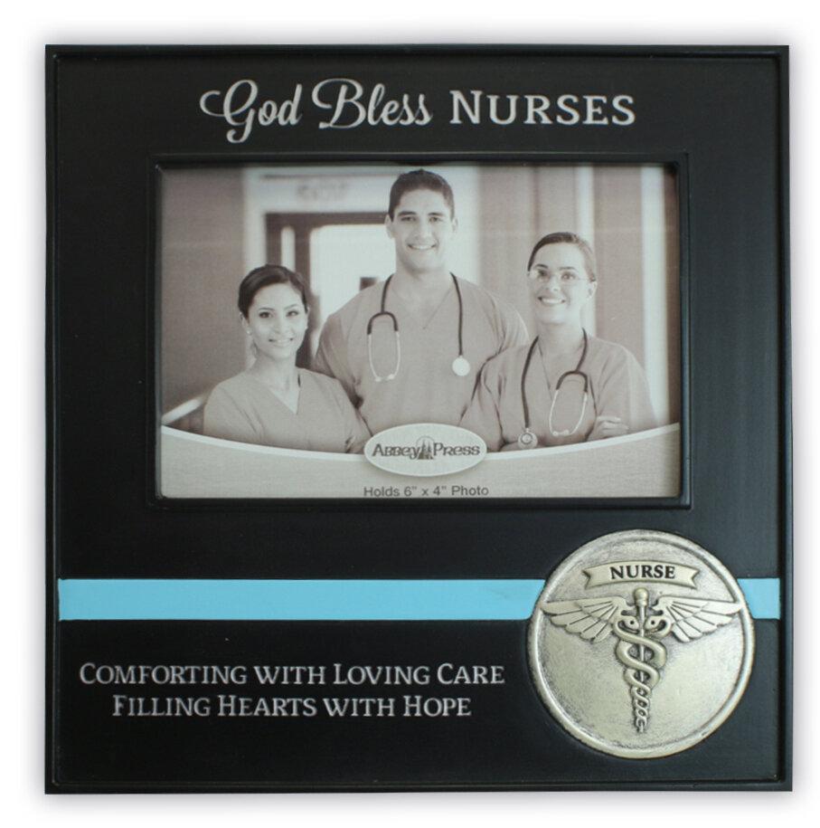 """God Bless Nurses"" Photo Frame"
