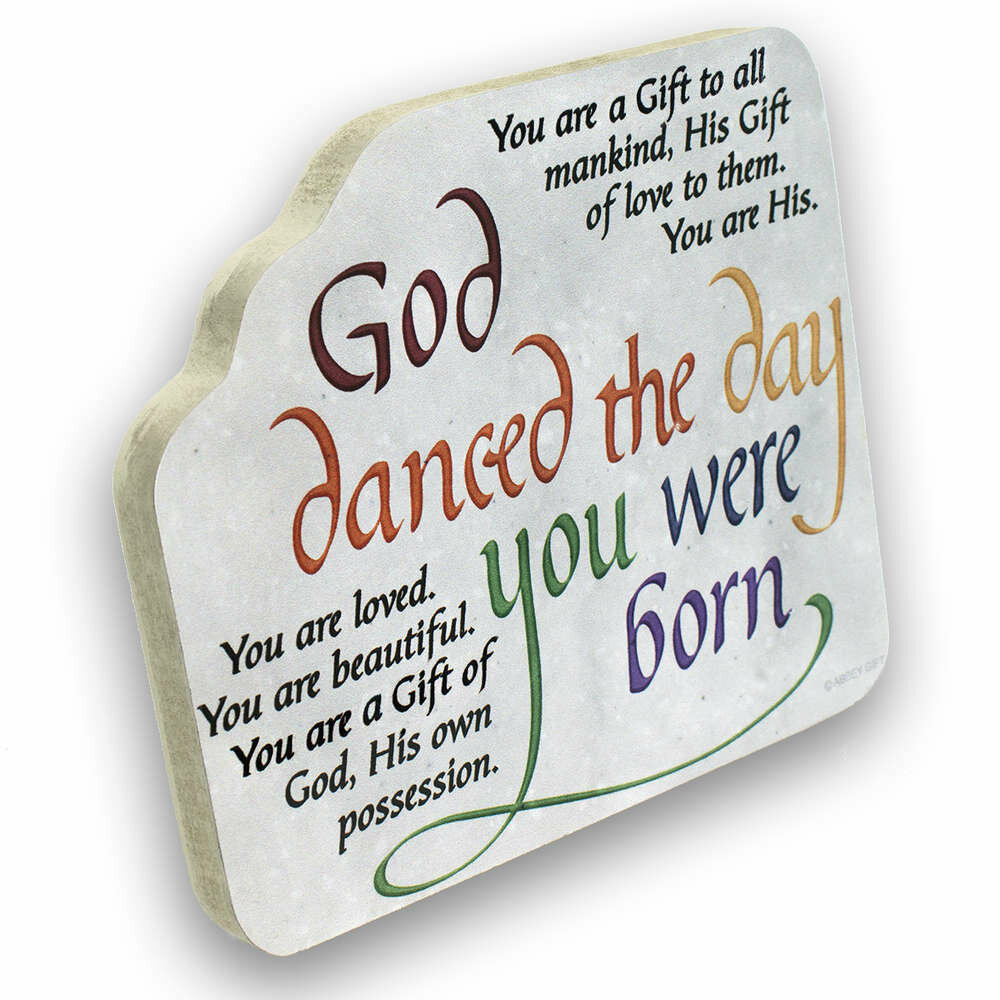 """God Danced"" Mini Plaque"