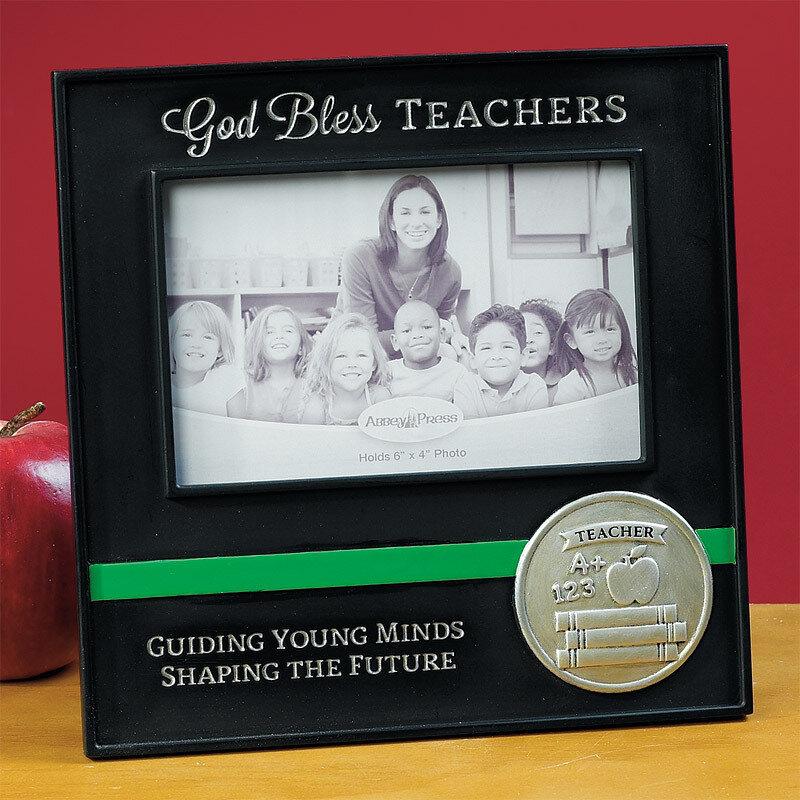 """""""God Bless Teachers"""" Photo Frame"""