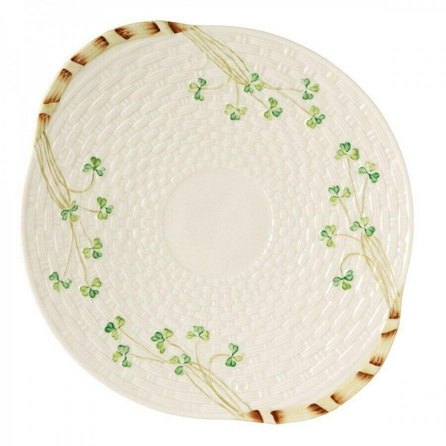 Belleek Shamrock Bread Plate