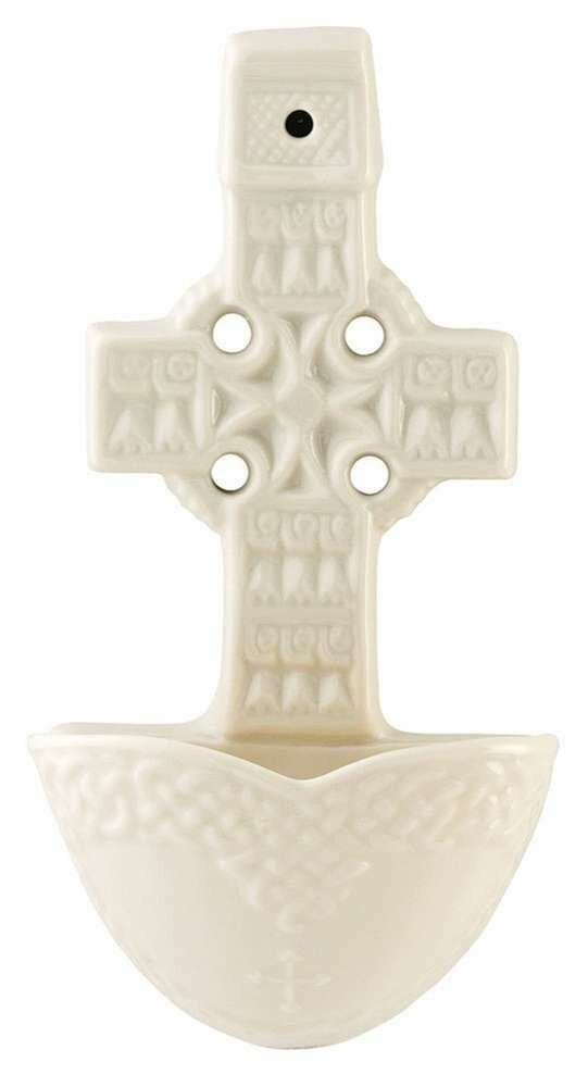 Belleek Celtic Cross Water Font