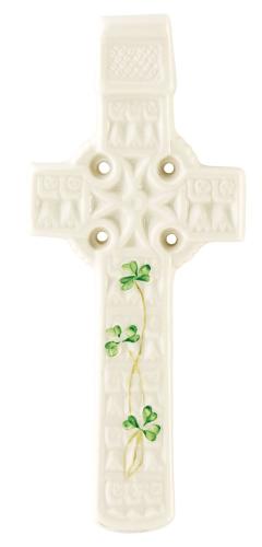 Belleek Celtic Shamrock Wall Cross