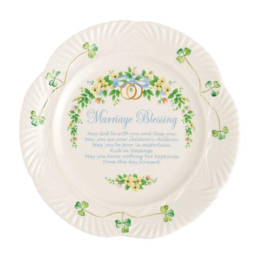 Belleek Marriage Blessing Plate