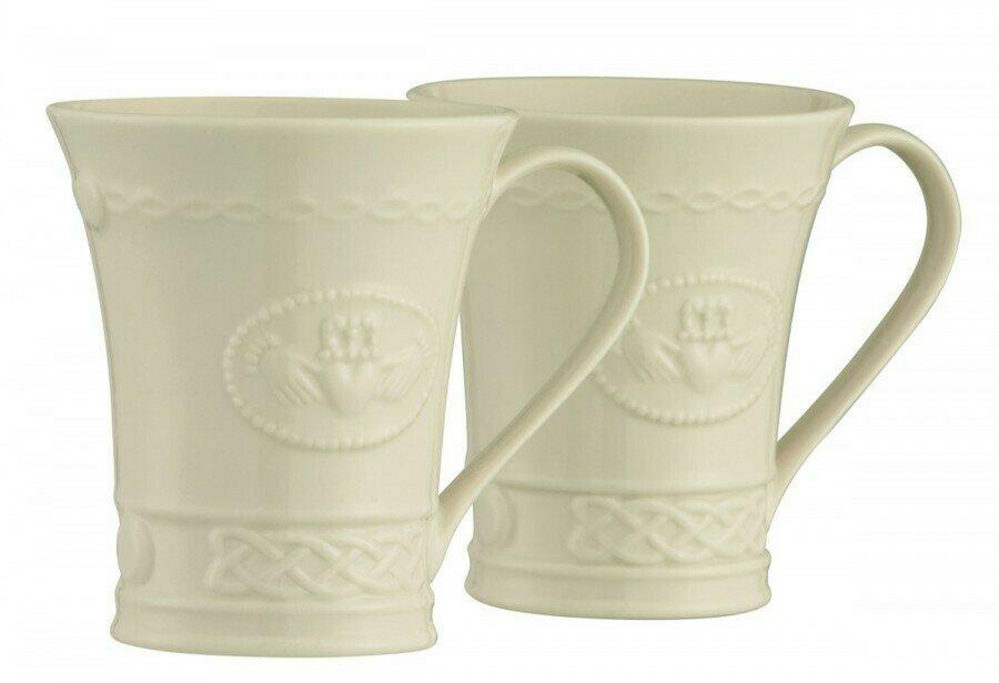 Belleek Claddagh Mugs (Set of 2)