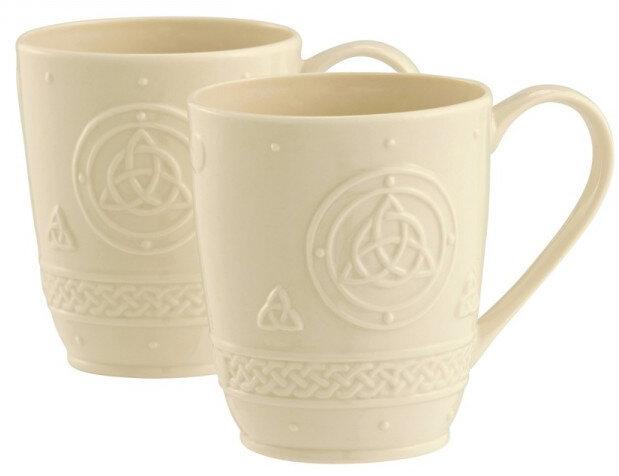 Belleek Celtic Mugs (Set of 2)