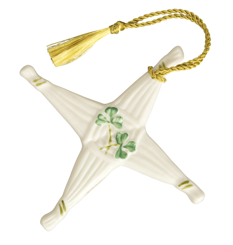 Belleek St. Brigid's Cross Ornament